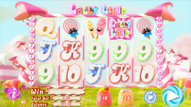 Lolly Land slots gameplay