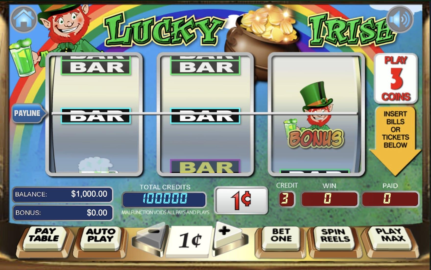 Lucky Irish online slots game logo