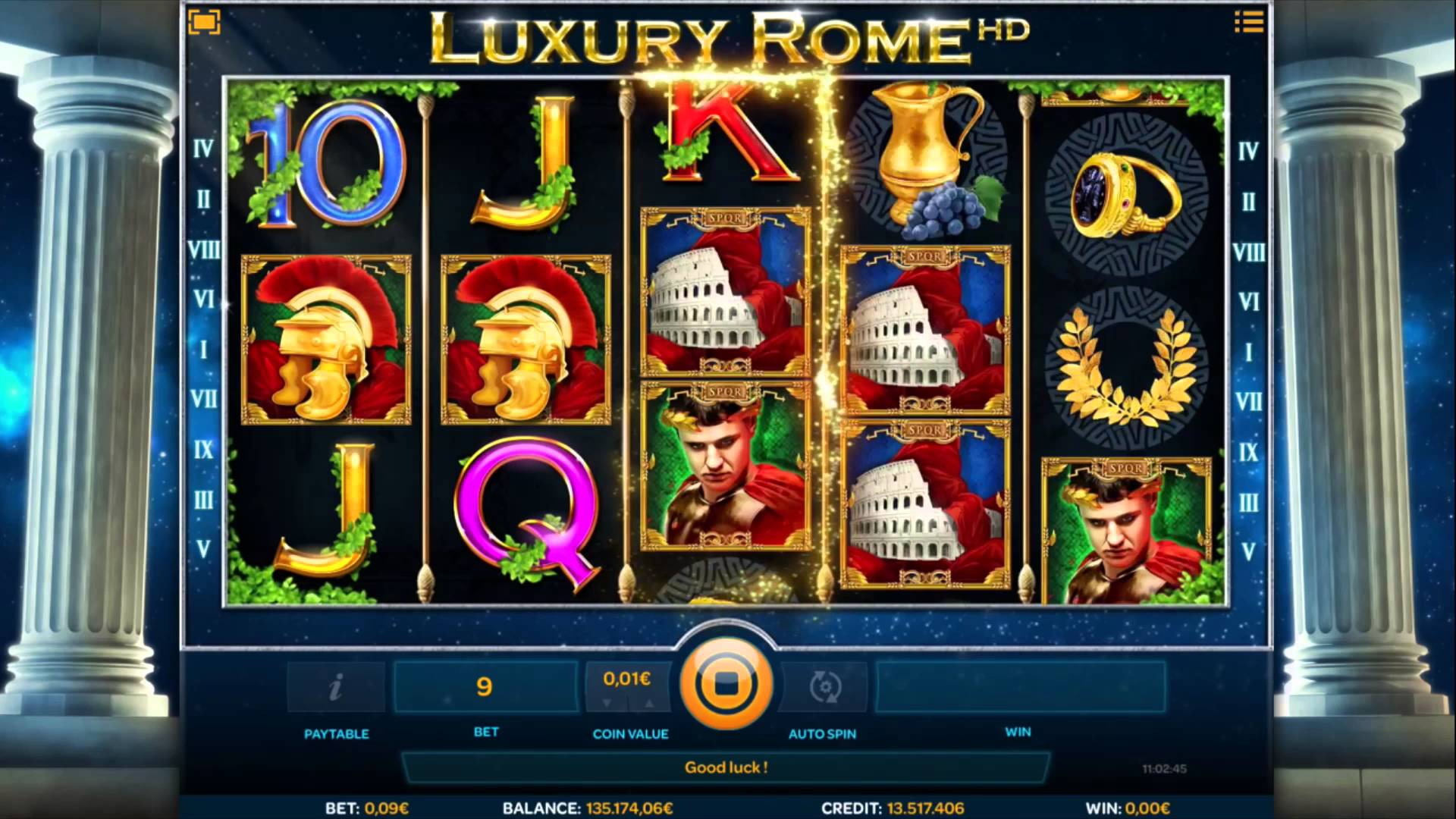 Luxury Rome HD game lobby
