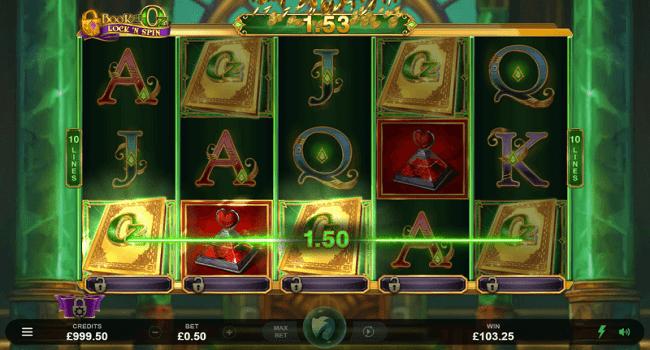 Book of Oz Lock 'n Spin gameplay casino