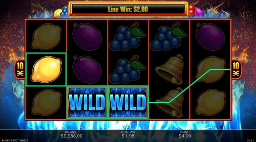 Mighty Hot Wilds Slots Reels