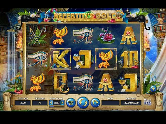 Nefertiti's Gold Slot Game