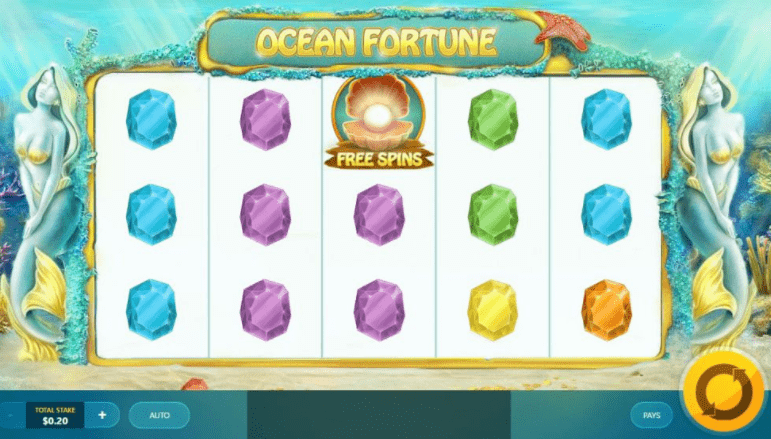 Oceans Fortune game reel