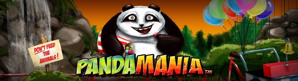 Pandamania online slots game logo