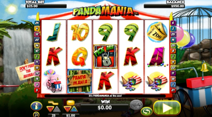Pandamania Slots gameplay