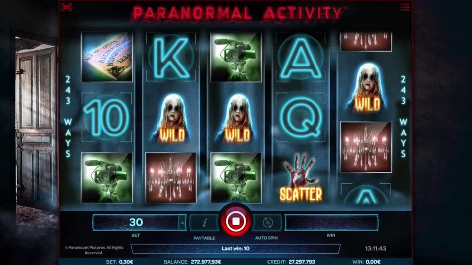 Paranormal Activity online slots game gameplay