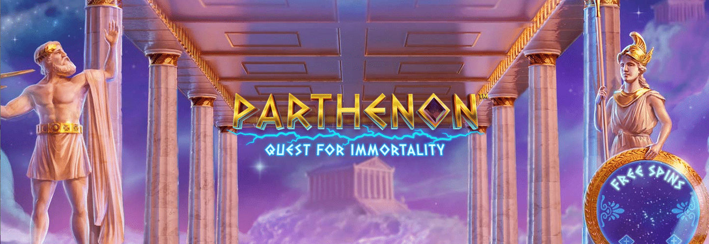 Parthenon Quest for Immortality Slot Logo Wizard Slots