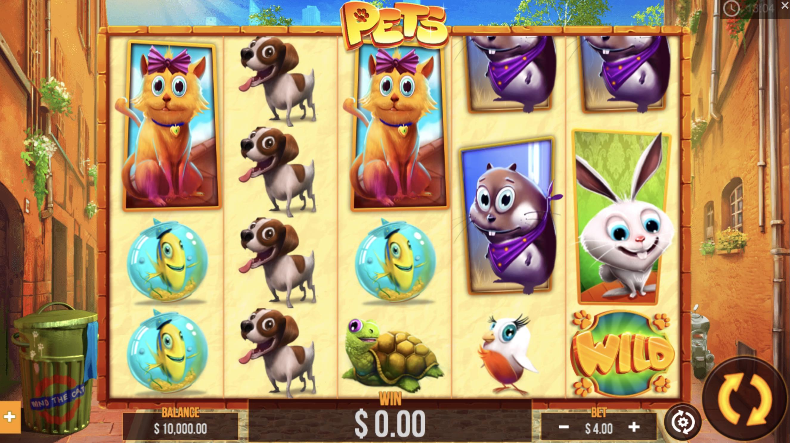 Pets slots gameplay