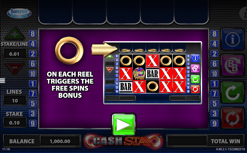 Cash Stax Slot Bonus Features