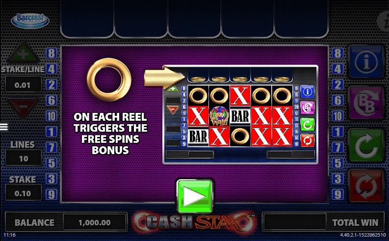 Cash Stax Slot Bonus Features