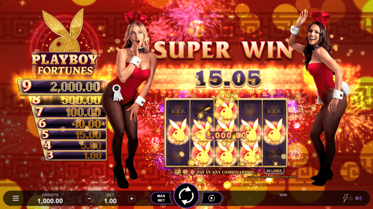Playboy Fortunes Slot Big Win
