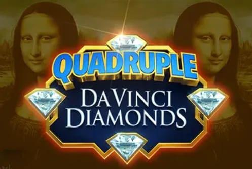 Quadruple Da Vinci Diamonds Slot Logo Wizard Slots
