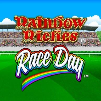 Rainbow Riches Race Day Slot Logo Wizard Slots
