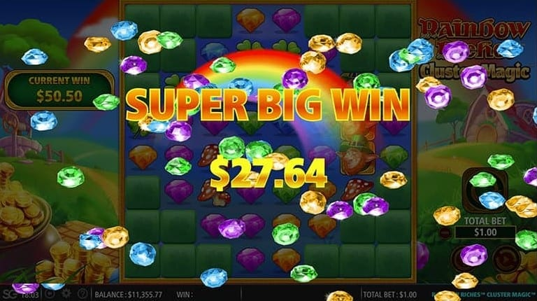 Rainbow Riches Cluster Magic FreeSlots