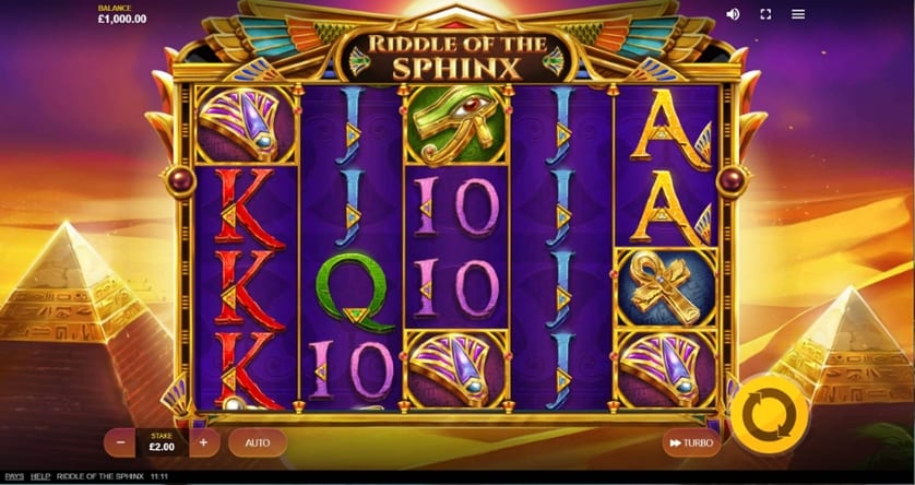 Riddle of the Sphinx Slot Gameplay