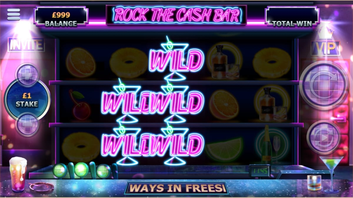 Rock the Cash Bar Slots Wilds