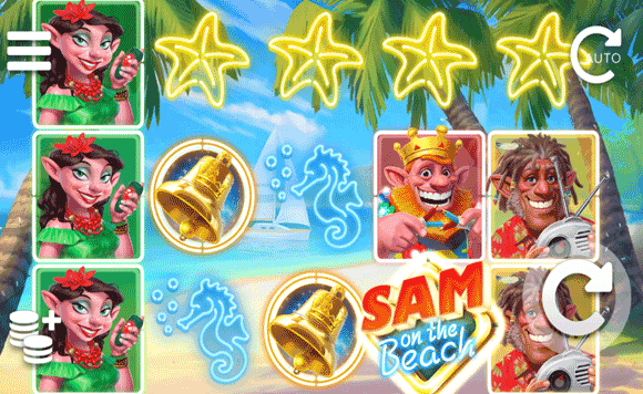 Sam on the Beach Slots gameplay