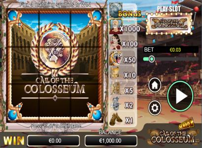 Scratch Call of the Colosseum online slots