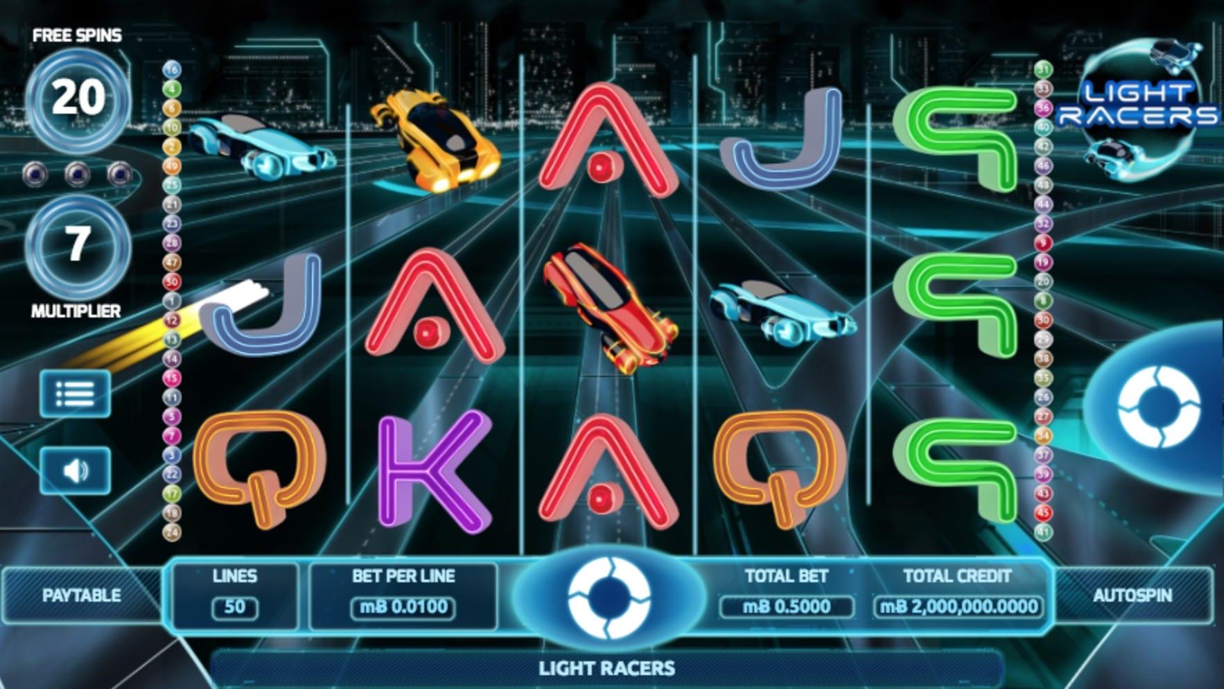 Screenshot of Light Racers gameplay