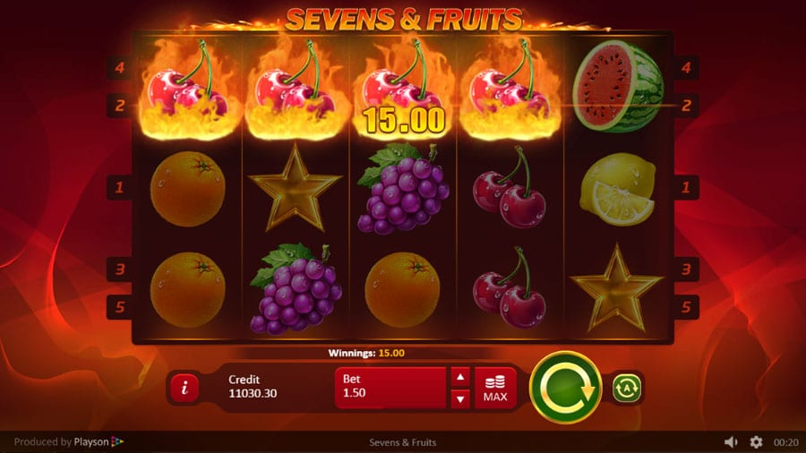 Sevens & Fruits: 20 Lines slot online