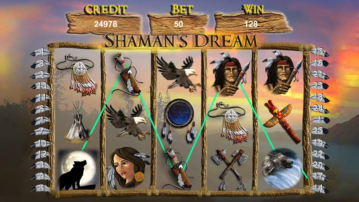 Shamans Dream online slots game gameplay