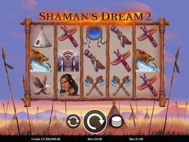 Shaman's Dream 2 Slots Reels