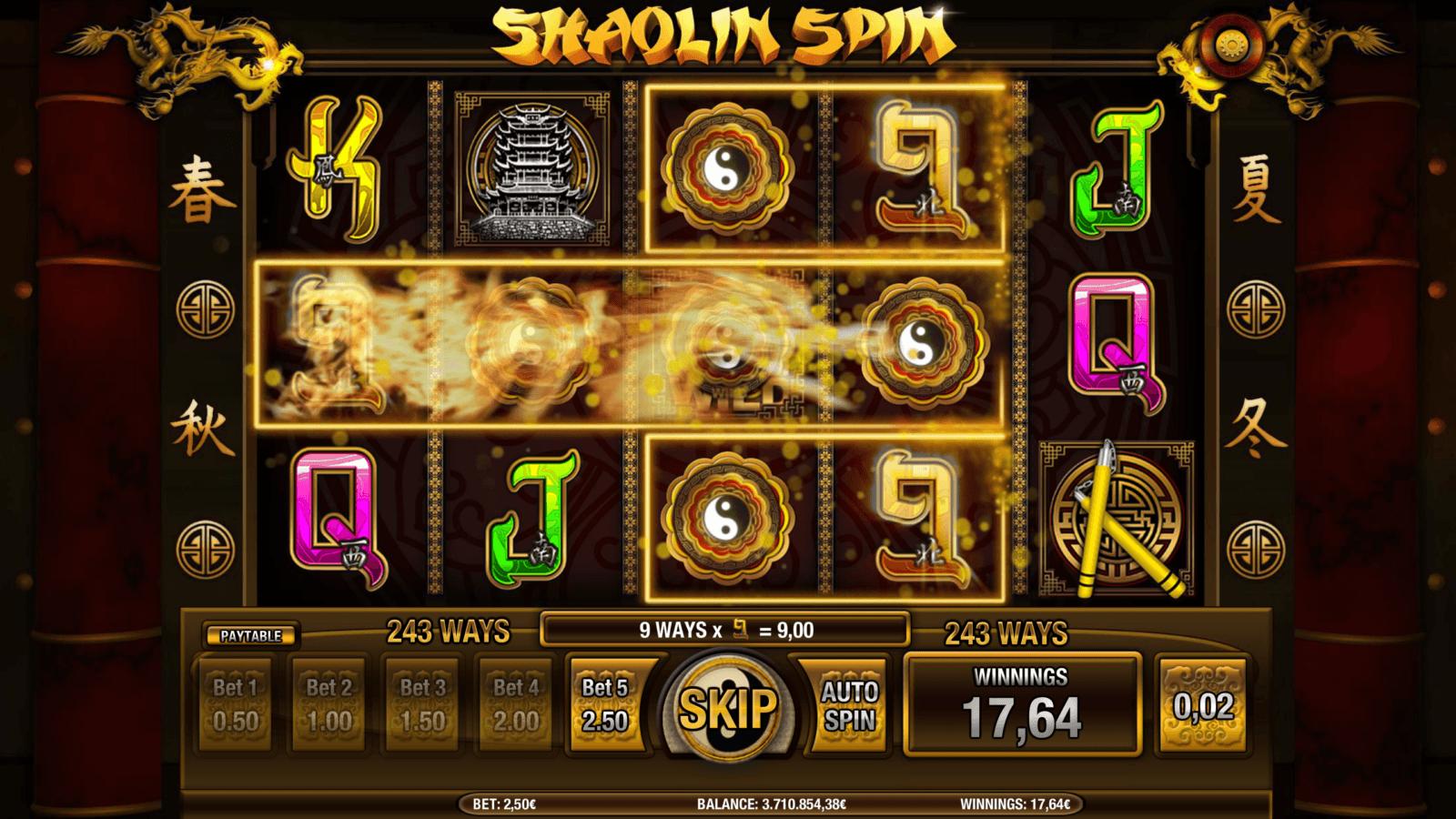 Shaolin Spin slots game