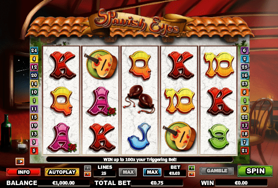 Spanish Eyes Slots gameplay