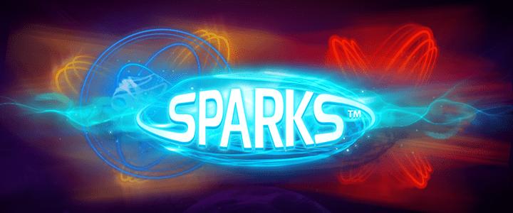 Sparks online slots game logo