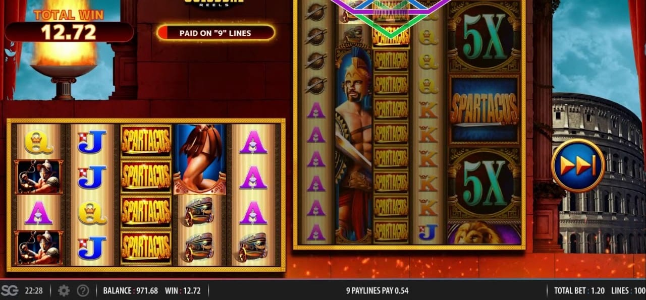 Spartacus Super Colossal Reels Slots Gameplay