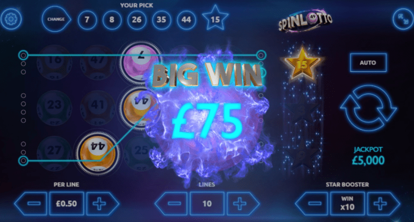 Spinlotto Gameplay
