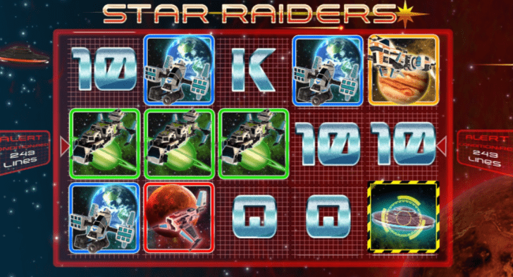 Star Raiders Slots gameplay