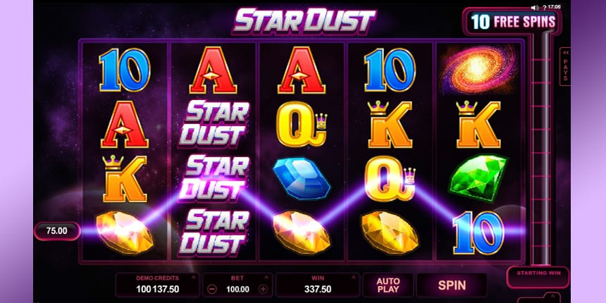 Stardust online slots game pay lines