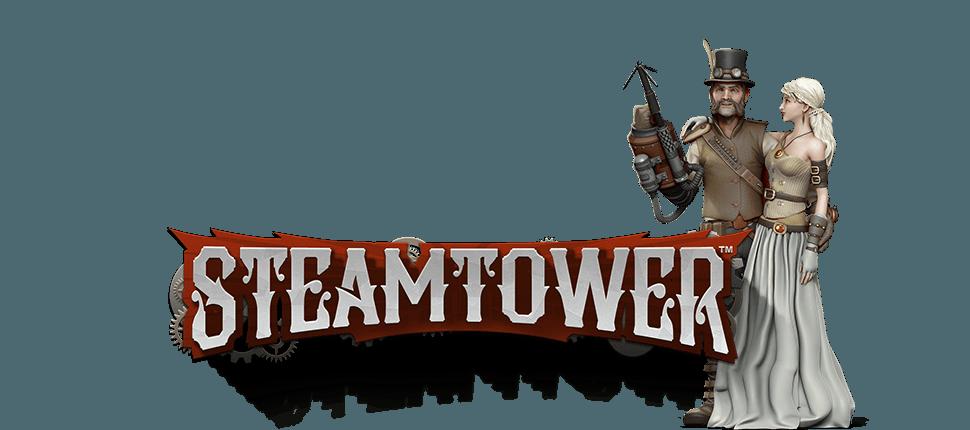 Steamtower online slots game logo