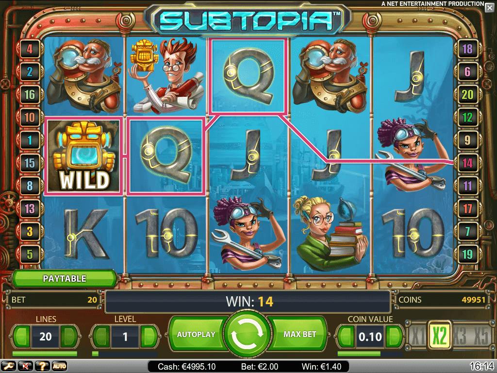 Subtopia online slots game win line