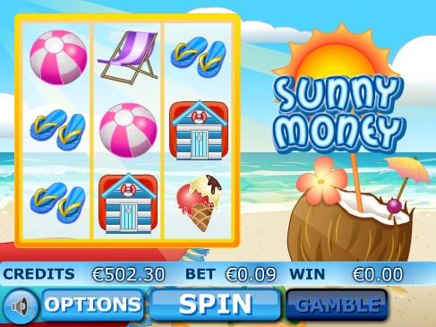 Sunny Money game lobby