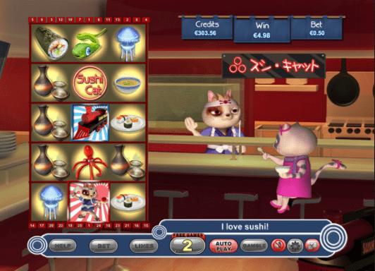 Sushi Cat game lobby