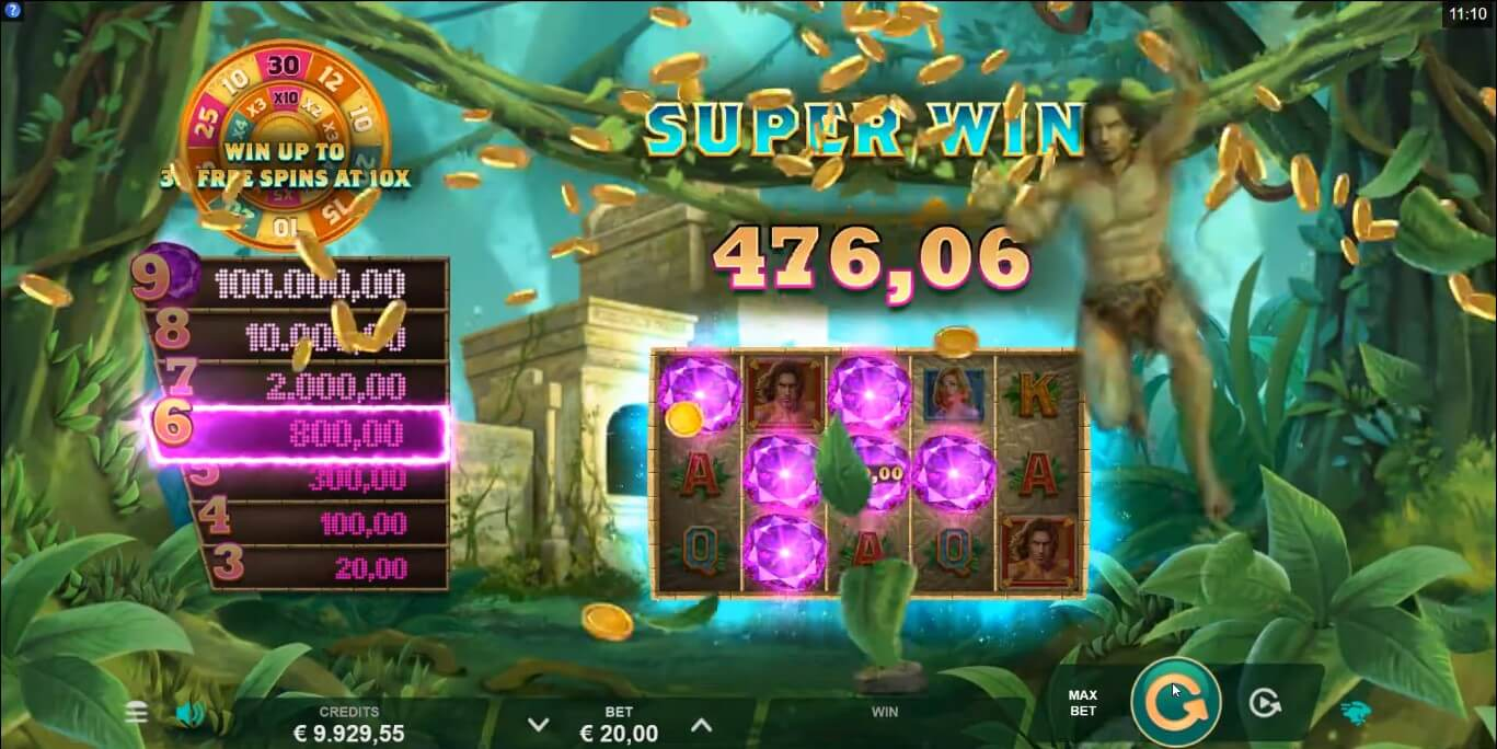 Tarzan and the Jewels of Opar Slot Win