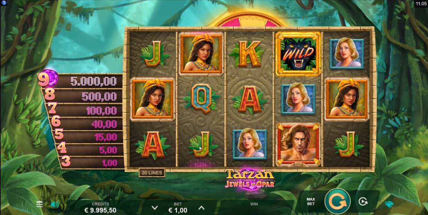 Tarzan and the Jewels of Opar Slot Gameplay