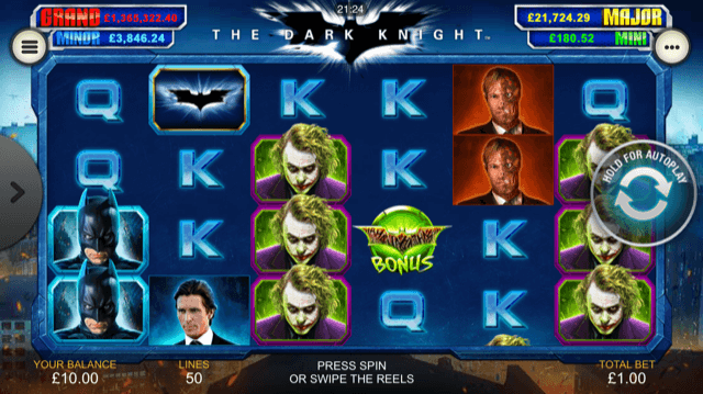 Dark Knight slot game gameplay