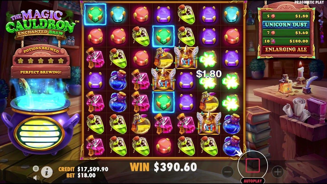 Magic Cauldron Enchanted Brew Slot Gameplay
