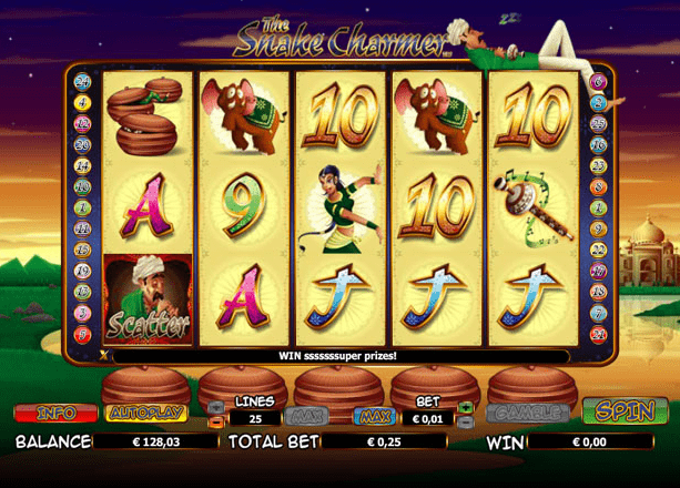 The Snake Charmer slots gameplay
