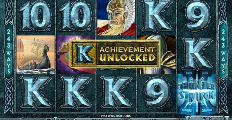 Thunderstruck II online slots game achievements