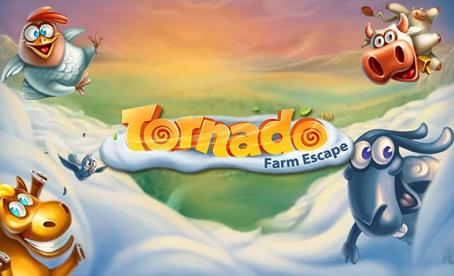 Tornado Farm Escape online slots game logo