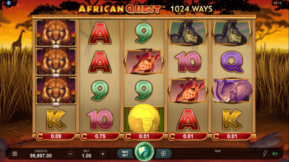 African Quest Slots UK Game Play