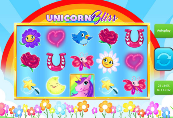 Unicorn Bliss Slots gameplay