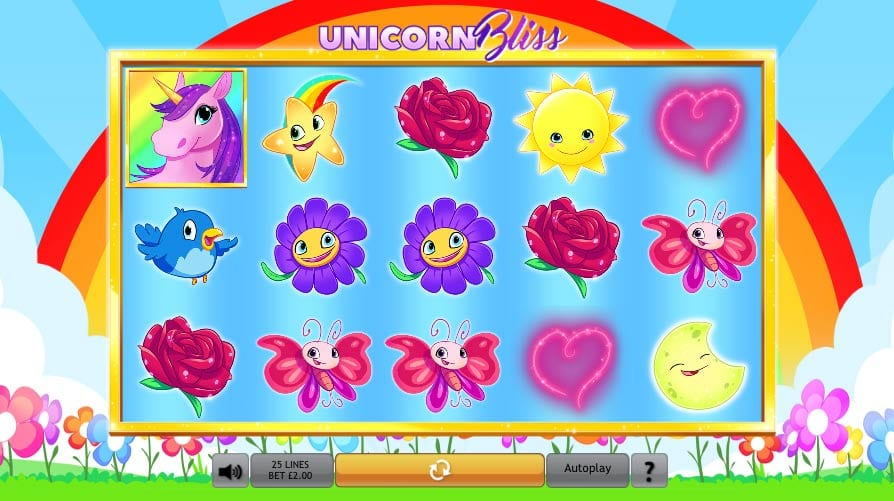Unicorn Bliss Jackpot Slots gameplay