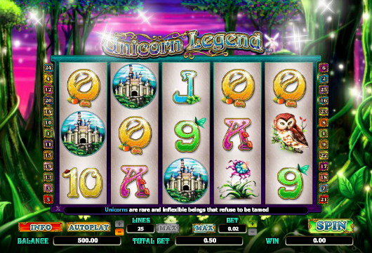 Unicorn Legend Slots gameplay