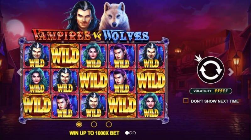 Vampire vs Wolves Slots Wild