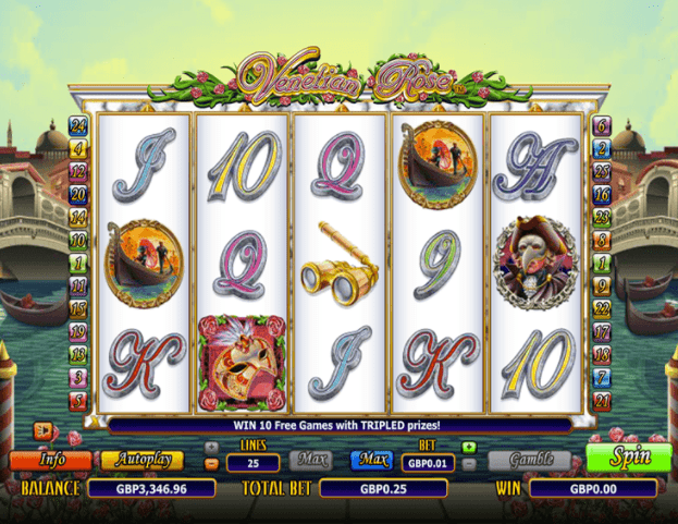 Venetian Rose Slots gameplay